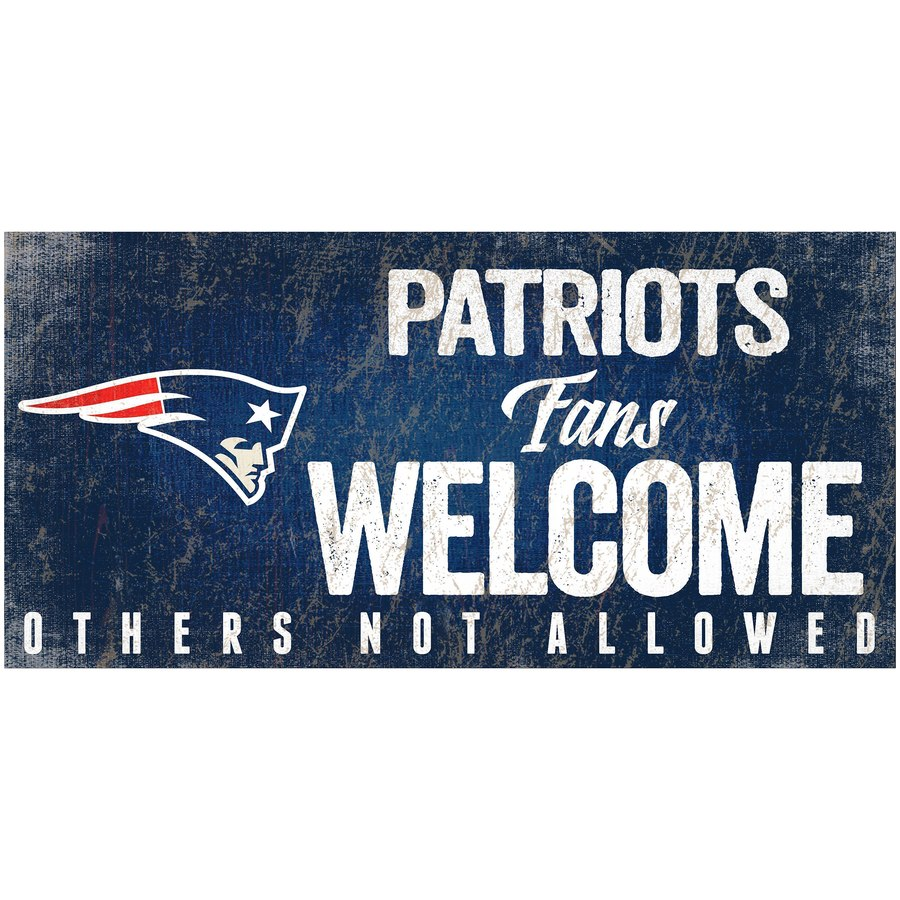 release date: 17e32 aad01 New England Patriots Wood Sign - Patriots Fans Welcome 12