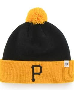 Pittsburgh Pirates TODDLER 47 Brand Yellow Black Bam Bam Cuff Knit Hat