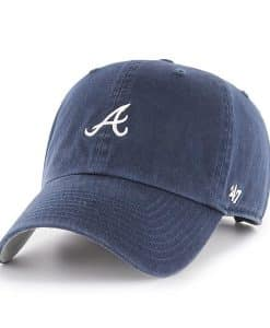 Atlanta Braves Women's 47 Brand Navy Base Runner Clean Up Adjustable Hat