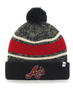 Atlanta Braves 47 Brand Navy Fairfax Cuff Knit Hat
