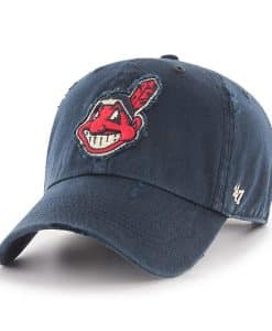 Cleveland Indians 47 Brand Navy Millwood Clean Up Adjustable Hat