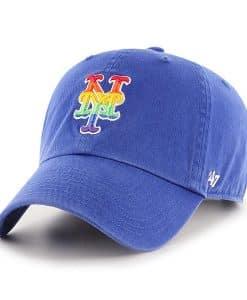 New York Mets 47 Brand Pride Blue Clean Up Adjustable Hat