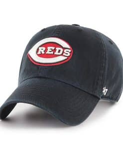 Cincinnati Reds 47 Brand Black Red White Clean Up Adjustable Hat