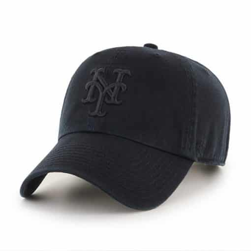New York Mets 47 Brand Black Clean Up Adjustable Hat