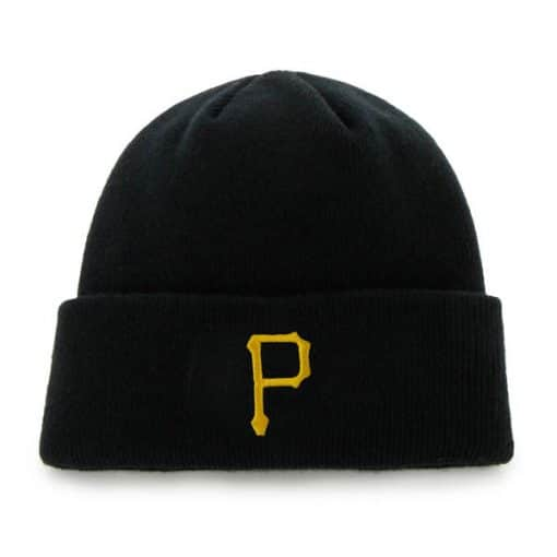 Pittsburgh Pirates 47 Brand Black Raised Cuff Knit Hat