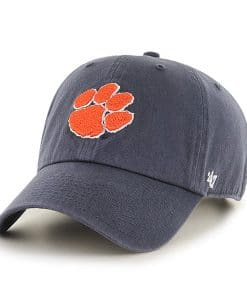 Clemson Tigers Women's 47 Brand Vintage Navy Clean Up Adjustable Hat