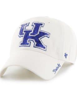 Kansas State Wildcats Women's 47 Brand Sparkle White Clean Up Adjustable Hat