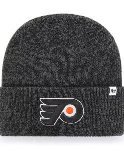 Philadelphia Flyers 47 Brand Gray Black Brain Freeze Cuff Knit Hat