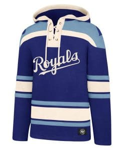 Kansas City Royals Men's 47 Brand Blue Pullover Jersey Hoodie