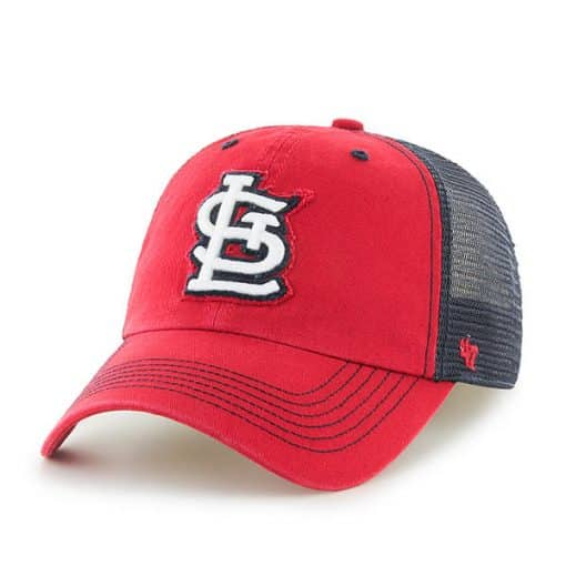 St. Louis Cardinals 47 Brand Red Taylor Mesh Stretch Fit Hat