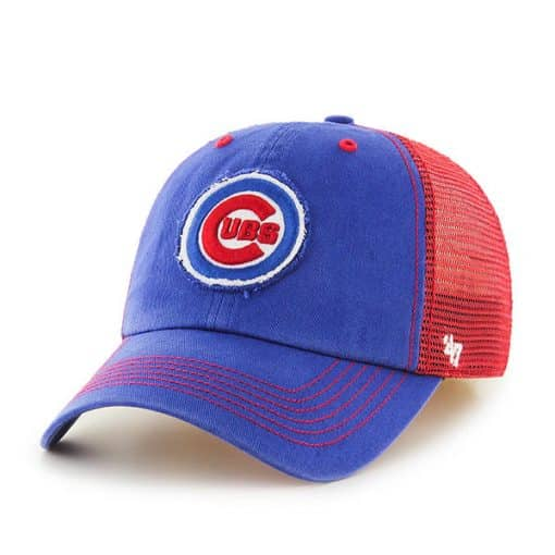 Chicago Cubs 47 Brand Blue Red Closer Mesh Stretch Fit Hat