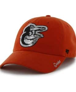 Baltimore Orioles Women's 47 Brand Sparkle Orange Clean Up Hat