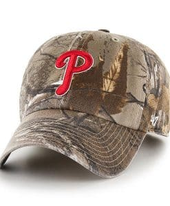 Philadelphia Phillies 47 Brand Camo Realtree Clean Up Adjustable Hat