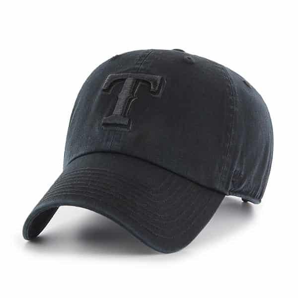 buy online 65cbf cf9c5 Texas Rangers 47 Brand All Black Clean Up Adjustable Hat - Detroit Game Gear