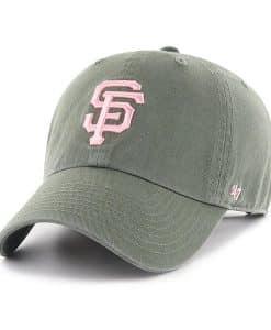 San Francisco Giants Women's 47 Brand Moss Pink Logo Clean Up Hat