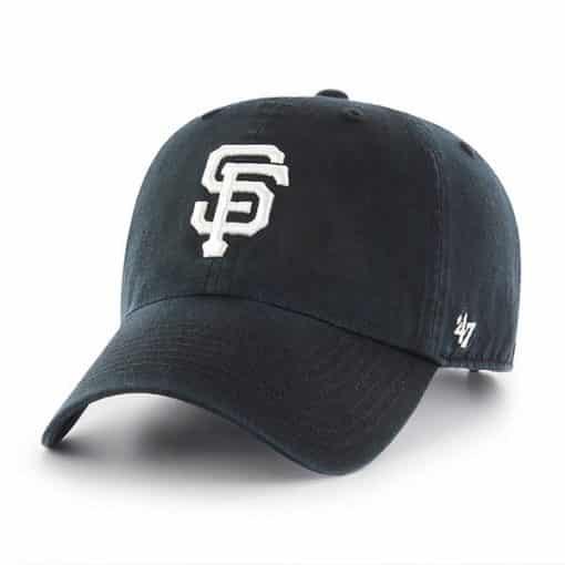 San Francisco Giants 47 Brand Black Clean Up Adjustable Hat