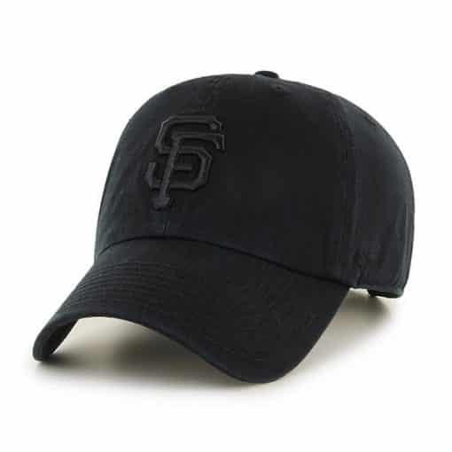 San Francisco Giants 47 Brand All Black Clean Up Adjustable Hat