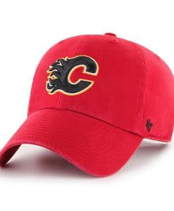 Calgary Flames 47 Brand Red Clean Up Adjustable Hat