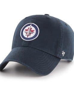 Winnipeg Jets 47 Brand Navy Clean Up Adjustable Hat