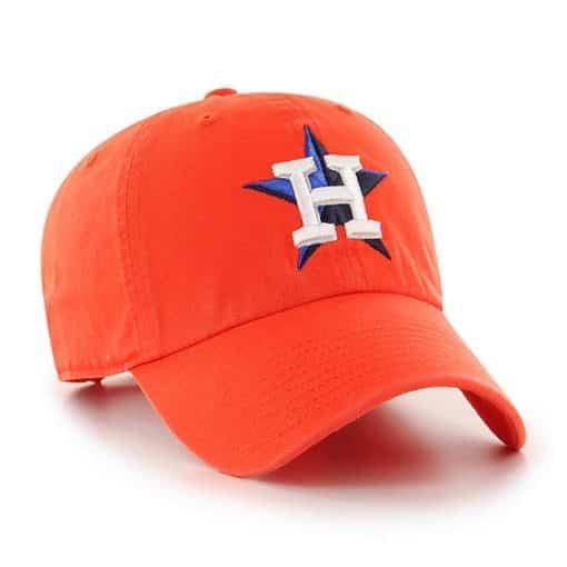 386694b27d21aa Houston Astros 47 Brand Orange Clean Up Adjustable Hat - Detroit ...