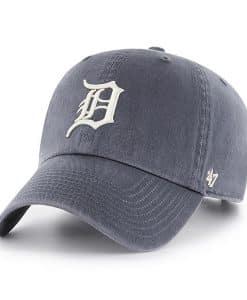 Detroit Tigers Vintage Navy 47 Brand Clean Up Adjustable Hat