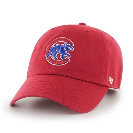 Chicago Cubs 47 Brand Red Classic Clean Up Adjustable Hat