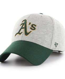 Oakland Athletics 47 Brand Gray Green MVP Adjustable Hat