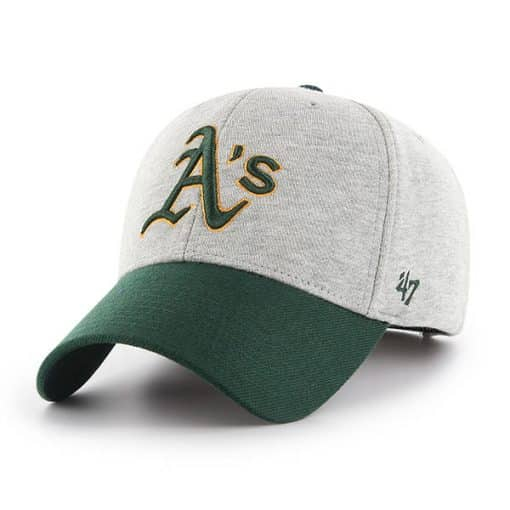 Oakland Athletics 47 Brand Gray Green MVP Adjustable Hat