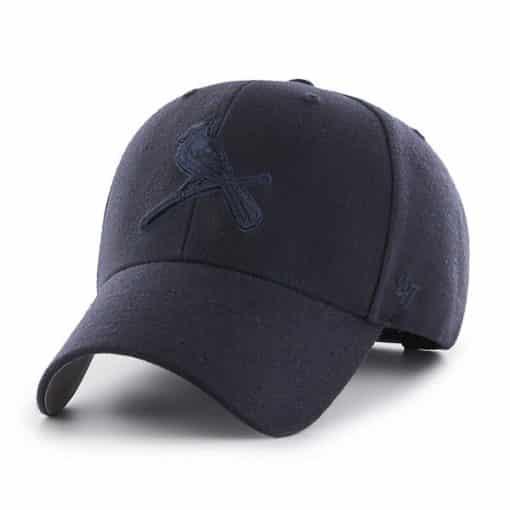 St. Louis Cardinals 47 Brand All Navy MVP Adjustable Hat