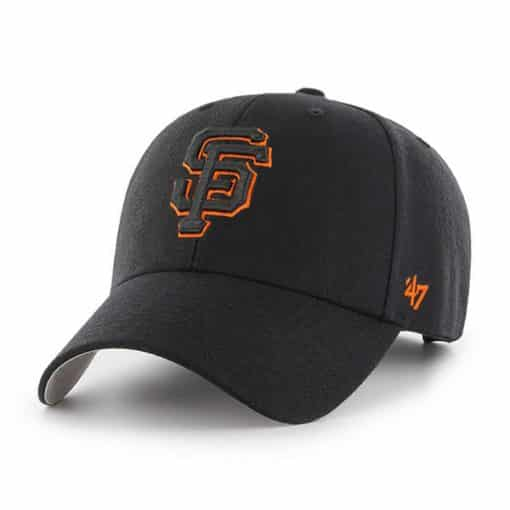 San Francisco Giants 47 Brand Black MVP Adjustable Hat