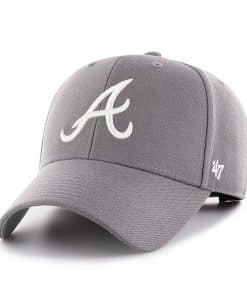 Atlanta Braves 47 Brand Dark Gray MVP Adjustable Hat