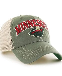 Minnesota Wild 47 Brand Green Tuscaloosa Clean Up Adjustable Hat