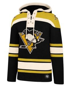 Pittsburgh Penguins Men's 47 Brand Black Pullover Jersey Hoodie