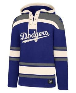 Los Angeles Dodgers Men's 47 Brand Blue Pullover Jersey Hoodie