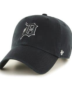 Detroit Tigers 47 Brand Black White Clean Up Adjustable Hat