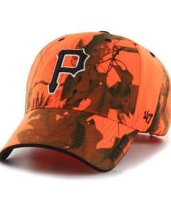 Pittsburgh Pirates 47 Brand Blaze Orange Realtree Frost Adjustable Hat
