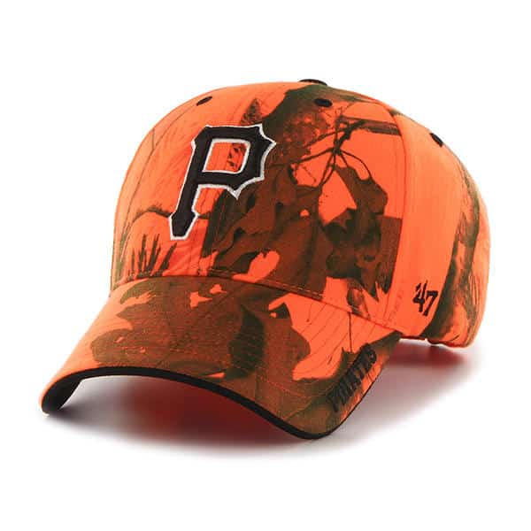 watch 777ba 5e410 Pittsburgh Pirates 47 Brand Blaze Orange Realtree Frost Adjustable Hat - Detroit  Game Gear
