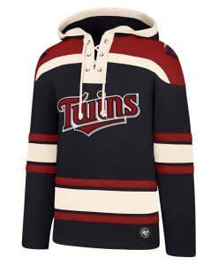 Minnesota Twins Men's 47 Brand Navy Pullover Jersey Hoodie
