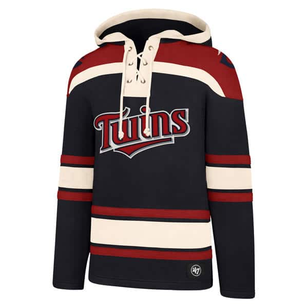 promo code caa13 90300 Minnesota Twins Men's 47 Brand Navy Pullover Jersey Hoodie