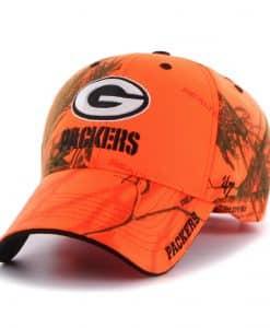 Green Bay Packers 47 Brand Blaze Orange Realtree Frost Adjustable Hat