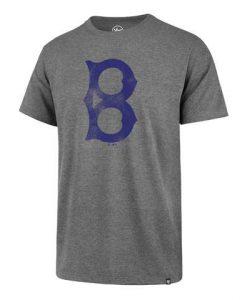 Brooklyn Dodgers Men's 47 Brand Gray Vintage T-Shirt Tee