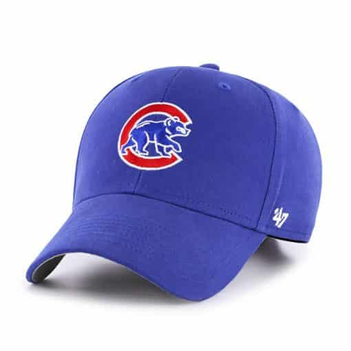 Chicago Cubs Youth 47 Brand Blue Classic MVP Adjustable Hat