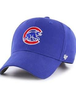 Chicago Cubs KIDS 47 Brand Blue Classic MVP Adjustable Hat