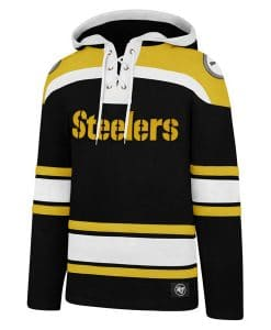 Pittsburgh Steelers Men's 47 Brand Black Pullover Jersey Hoodie