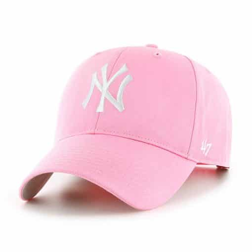 fffd5e7b15479 New York Yankees KIDS 47 Brand Pink Rose MVP Adjustable Hat ...