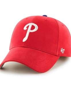 huge selection of 9e887 88985 Philadelphia Phillies KIDS 47 Brand Red MVP Adjustable Hat