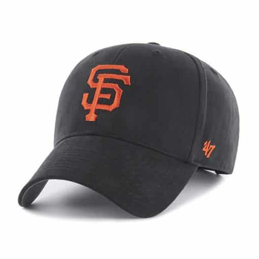 San Francisco Giants TODDLER 47 Brand Black MVP Adjustable Hat