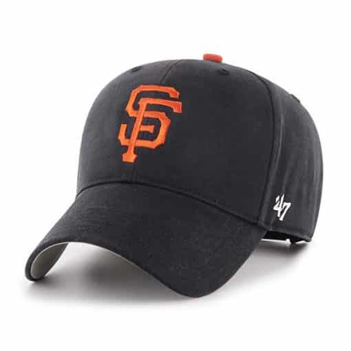 San Francisco Giants YOUTH 47 Brand Black MVP Adjustable Hat