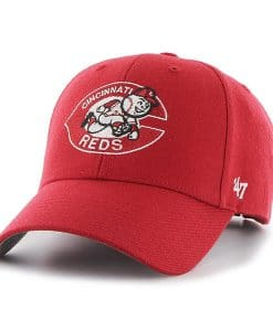 Cincinnati Reds 47 Brand Red Classic Logo MVP Adjustable Hat