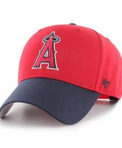 Los Angeles Angels 47 Brand Red Two Tone MVP Adjustable Hat